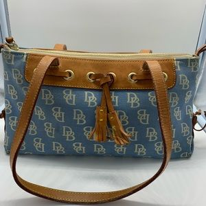 DOONEY & Bourke vintage blue & white shoulder bag